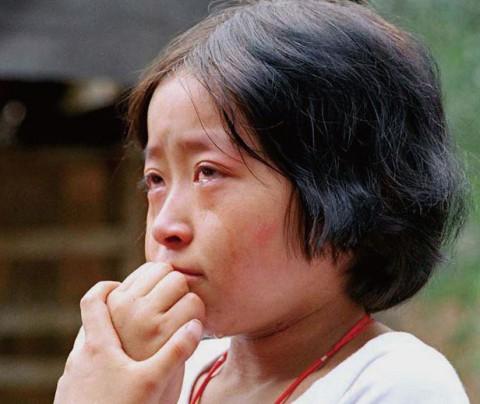 中国がん村子供