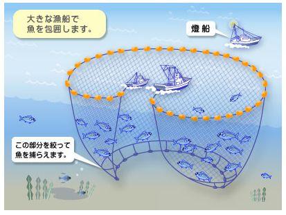 巻き網漁法