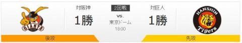 CS第2戦阪神vs巨人