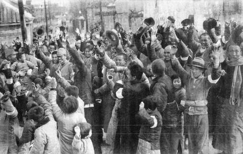 南京陥落の時の南京市民の様子1