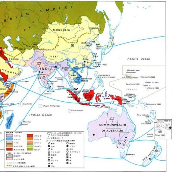 帝国主義アジア地図