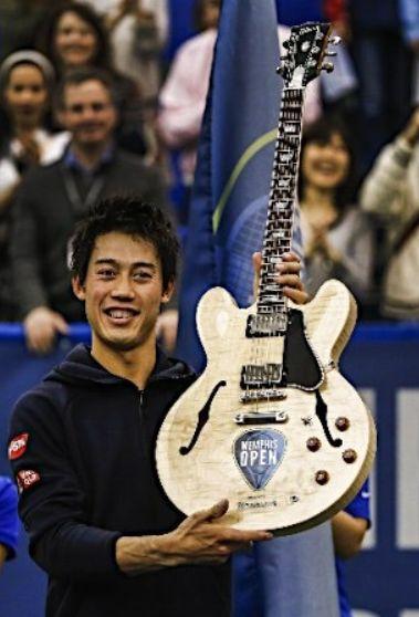 錦織圭メンフィスオープン優勝ギター