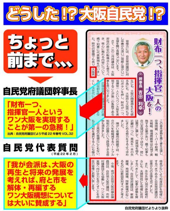 大阪都構想自民党