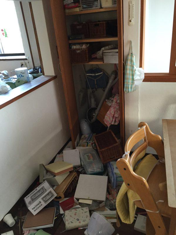 熊本地震被害画像16リビング