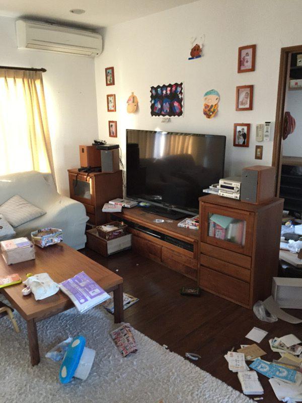 熊本地震被害画像13リビング
