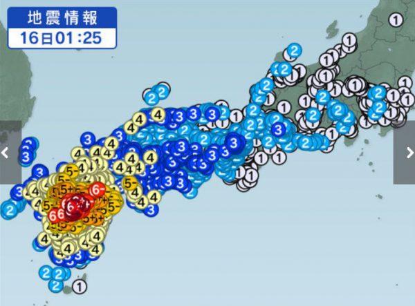 2016年熊本地震「本震」
